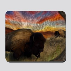 buffalo grass dance Mousepad