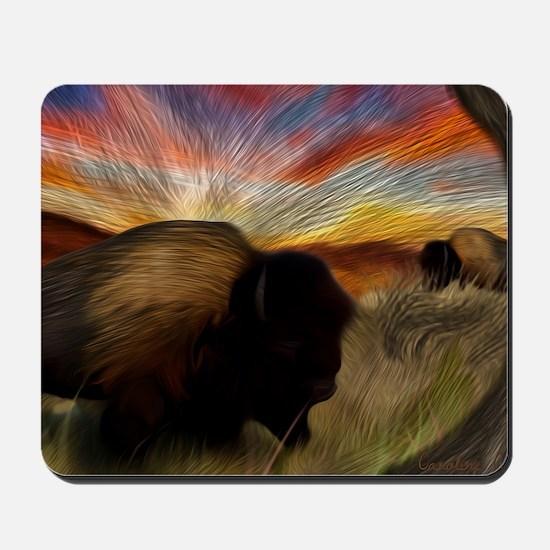 buffalo grass dance Mousepad