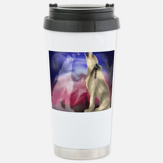 wolf love Stainless Steel Travel Mug