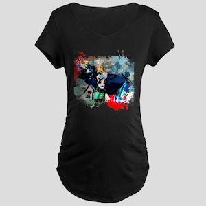 fancy shawl dancer Maternity Dark T-Shirt