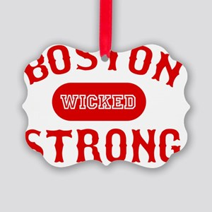 Boston Wicked Strong - Red Picture Ornament