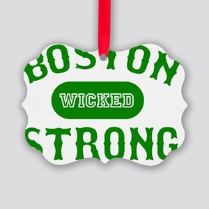 Boston Wicked Strong - Green Picture Ornament