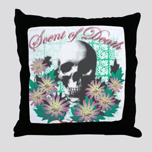 Scent of Death Throw Pillow