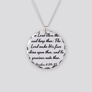 Numbers 6:24-25 - The Lord b Necklace Circle Charm