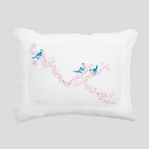 Cherry Blossom Trio Rectangular Canvas Pillow