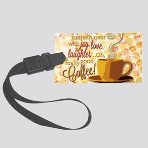 Coffee Large Luggage Tag
