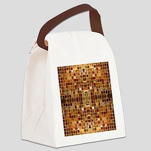 Gold Mosaic Tiles Canvas Lunch Bag
