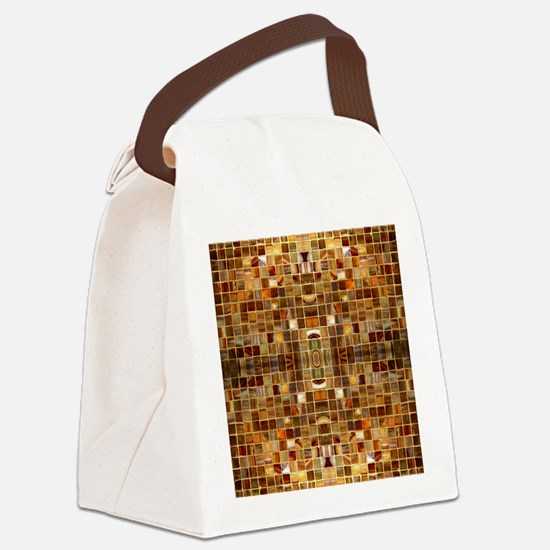 Gold Mosaic Tiles Canvas Lunch Bag