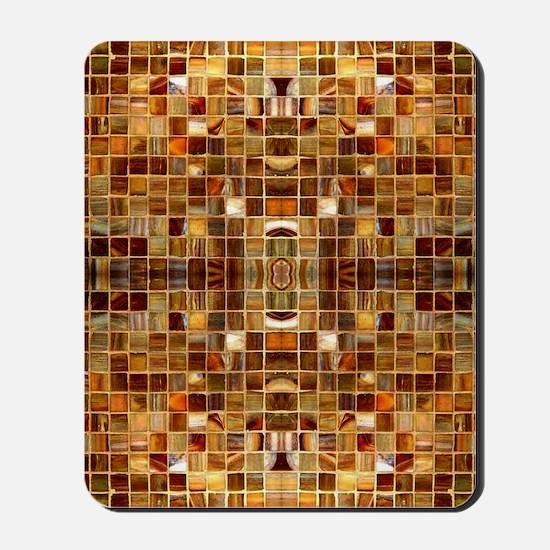 Gold Mosaic Tiles Mousepad
