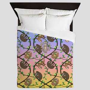 Sloths Queen Duvet
