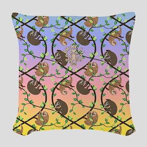 Sloths Woven Throw Pillow