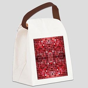 Cherry Mosaic Tiles Canvas Lunch Bag