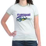 SUPERRABBI Women's Ringer T-Shirt