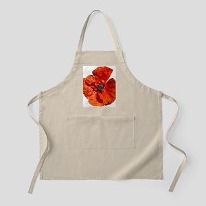Orange And Red Poppy Apron