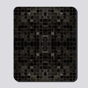 Black Mosaic Tiles Mousepad