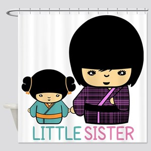 Japanese Doll Little Sister Shower Curtain