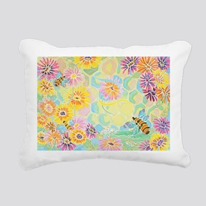 Bumble Bee Paradise Rectangular Canvas Pillow