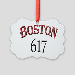Boston 617 Picture Ornament
