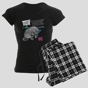 Lady CD Mustached Manatee Women's Dark Pajamas