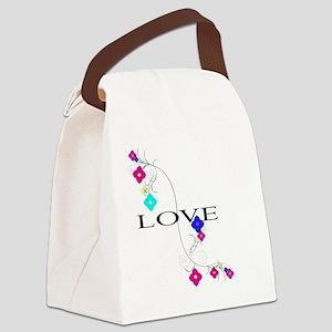 Flower Love Shoulder bag Canvas Lunch Bag
