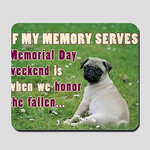 Happy Memorial Day Mousepad