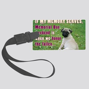 Happy Memorial Day Large Luggage Tag