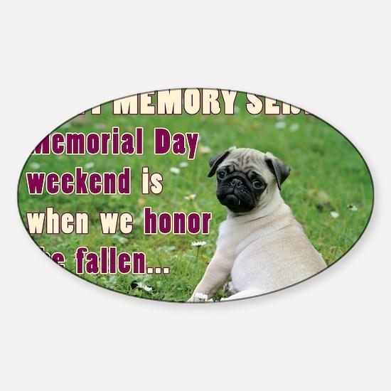 Happy Memorial Day Sticker (Oval)