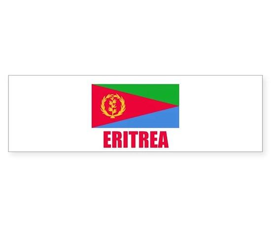 Eritrea flag bumper bumper bumper sticker