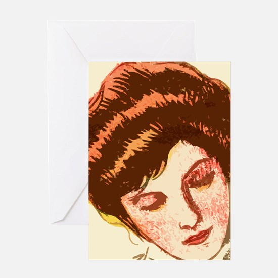 Rest Lady Greeting Card