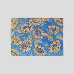 Dance of the Sunflowers 5'x7'Area Rug