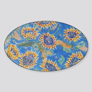 Dance of the Sunflowers Sticker (Oval)