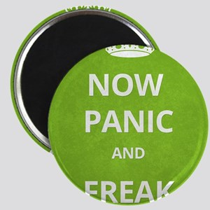 Now Panic and Freak Out Poster (Green) Magnet