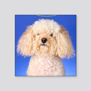 "Angelic Poodle Square Sticker 3"" x 3"""