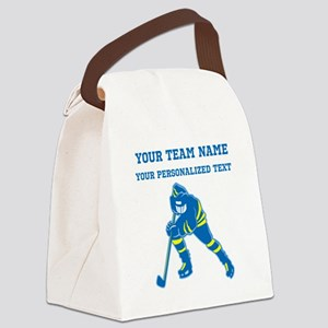 Hockey Canvas Lunch Bag
