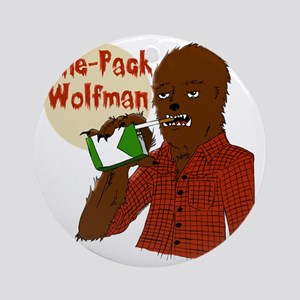One-Pack Wolfman Round Ornament