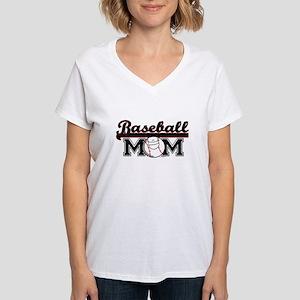 Baseball mom Women's V-Neck T-Shirt