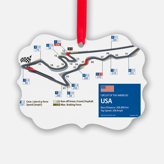 Formula 1 - Circuit of the Americ Ornament
