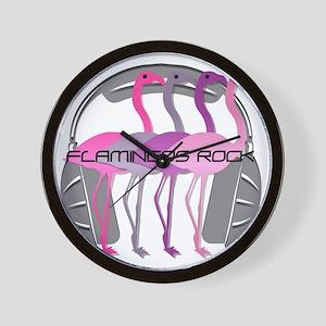 Flamingos Rock Wall Clock