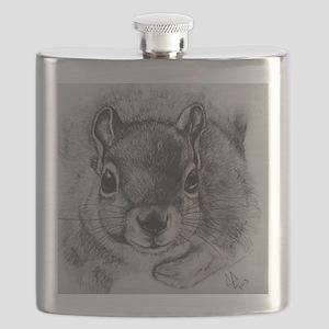 Squrrel Sketch Flask