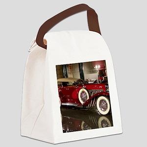 Big Red Car Canvas Lunch Bag