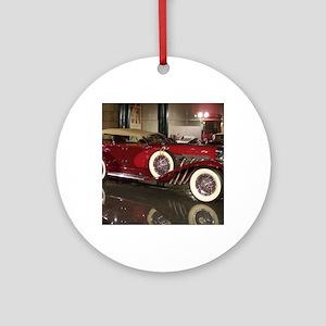 Big Red Car Round Ornament