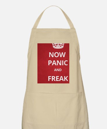 Now Panic and Freak Out Poster (Red) Apron