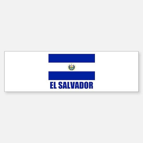 El Salvador Flag Bumper Bumper Bumper Sticker