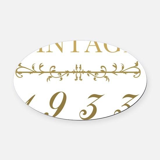 Elegant Vintage 1933 Oval Car Magnet