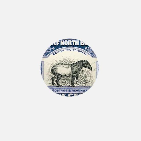 Antique 1904 North Borneo Tapir Postag Mini Button