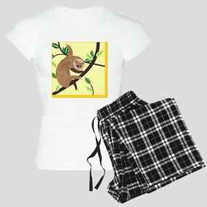 6ce863abea Yellow sloth Women s Light Pajamas