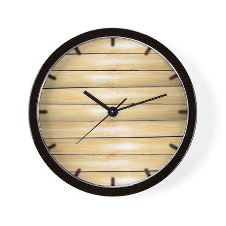 Bamboo face clock