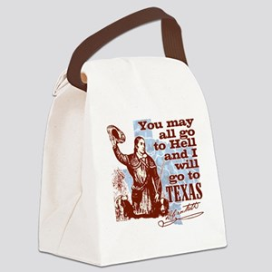 Davys Gone To Texas Canvas Lunch Bag