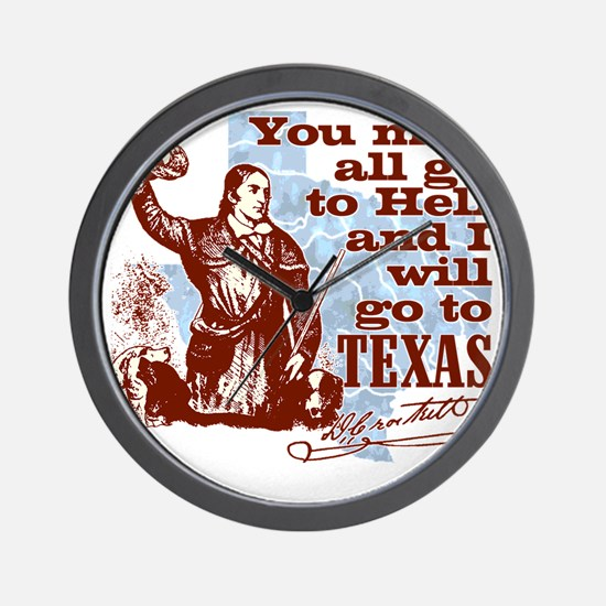 Davys Gone To Texas Wall Clock