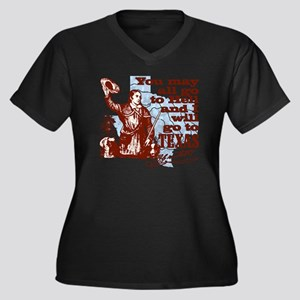 Davys Gone T Women's Plus Size Dark V-Neck T-Shirt